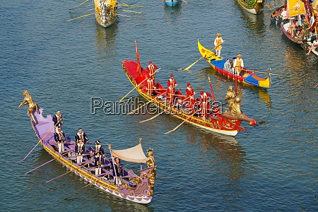 the boats of the historical procession