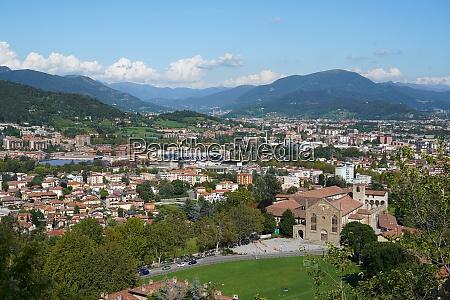 bergamo lower town seen from bergamo