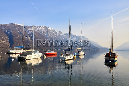 sailing boats in the harbour at