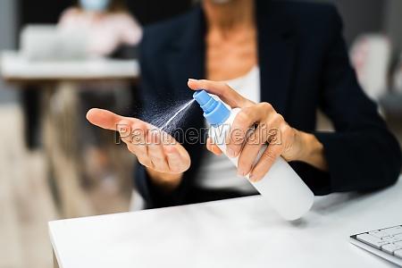 using alcohol rub gel