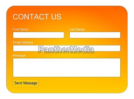 orange contact us form or feedback