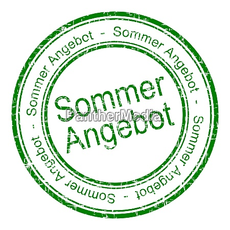 green summer offer stamp in