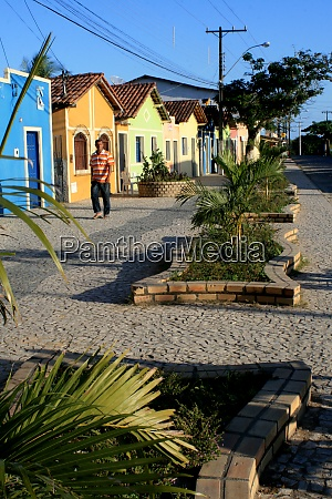 street with colorful houses in the