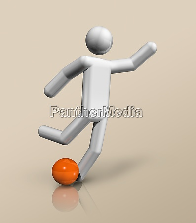 football soccer 3d icon olympic sports