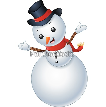 snowman christmas isolated on white background