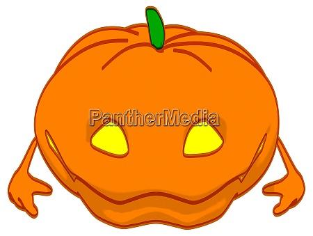 fun 3d cartoon halloween pumpkin