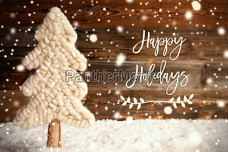 fabric christmas tree snow happy holidays