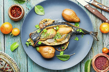 baked fish mackerel