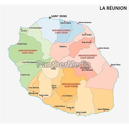 vector map of the parishes of