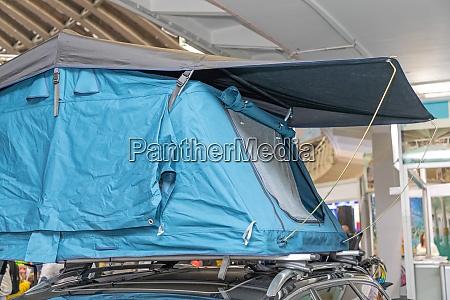 tent at vehicle