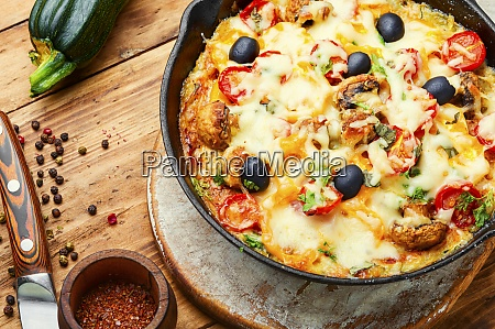 slice of italian classic pizza