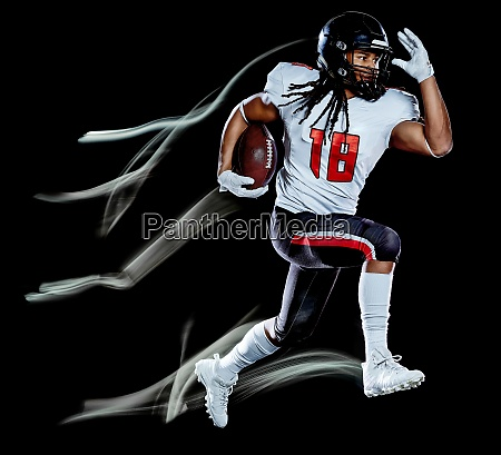 american football player man isolated black