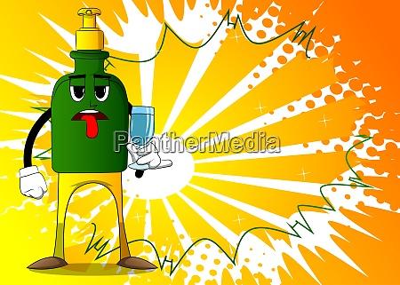 bottle of hand sanitizer gel with