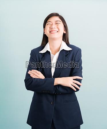 teenage girl long hair is standing