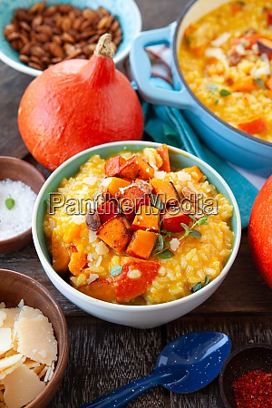 rich creamy pumpkin risotto