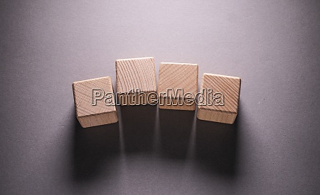 wooden geometric shapes cubes