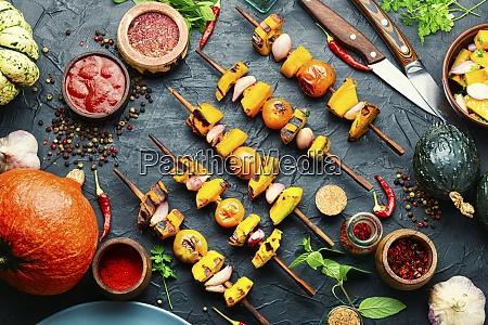 pumpkin vegetable kebab
