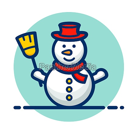 vector snowman clipart icon design