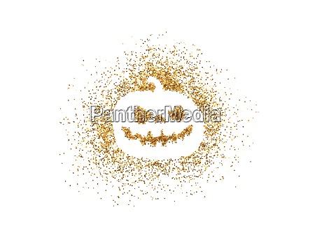 golden halloween pumpkin made of glitter