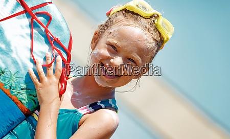 little girl with body board
