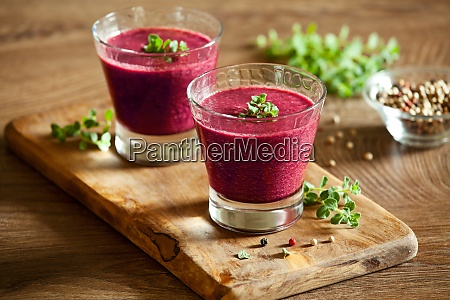 homemade organic beetroot gazpacho