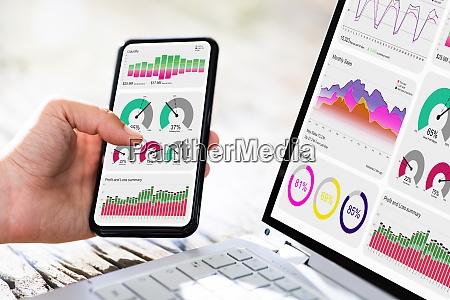 analytics results on mobile phone