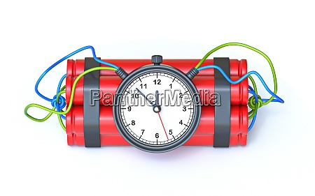 dynamite with clock timer 3d