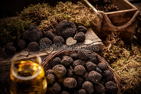 black truffle still life