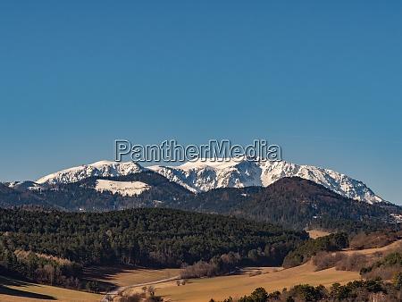 landscape mountain range snow capped