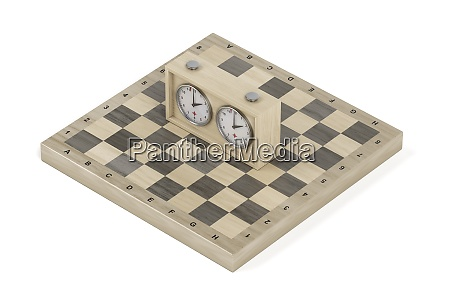 chess board and chess clock