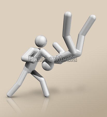 judo 3d icon olympic sports