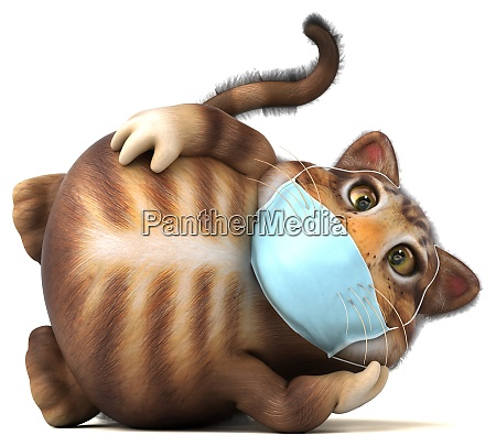 fun 3d illustration of a cat