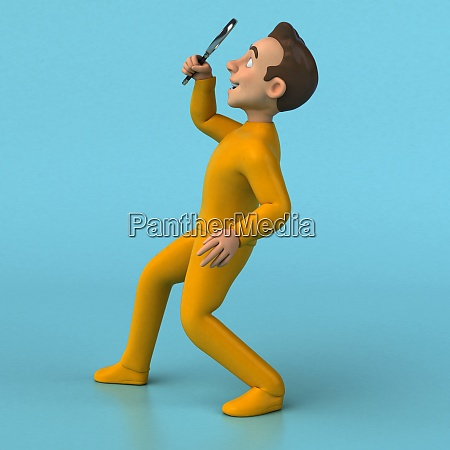 fun 3d cartoon yellow character