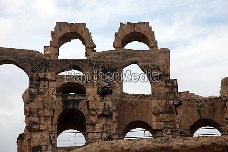 the amphitheater in el jem tunisia