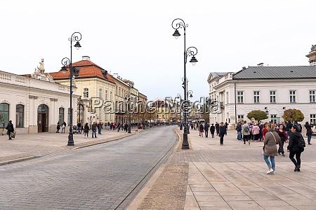 view of krakowskie przedmiescie street in