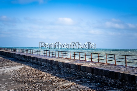 pier with rusty grate on the