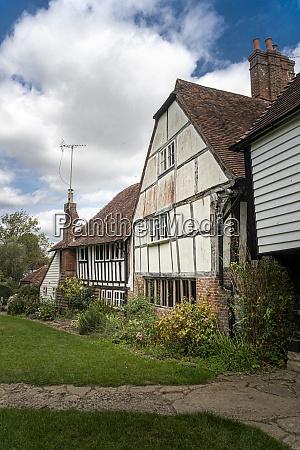 ancient timber framed cottages