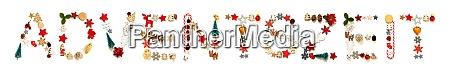 colorful christmas decoration letter building adventszeit