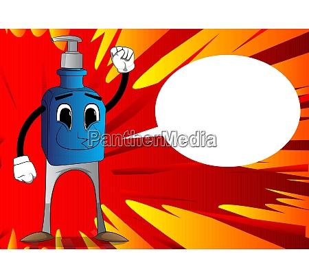 bottle of hand sanitizer making power