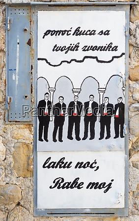 graffiti on a wall in rab