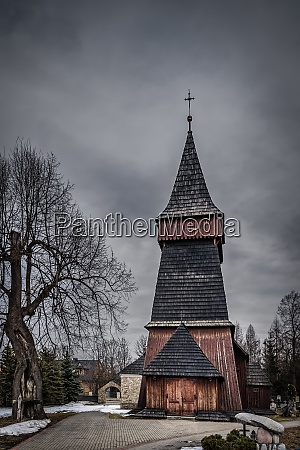 unique 17th century wooden church in