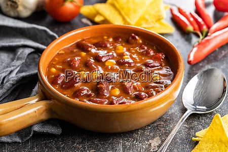 chili con carne mexican food with