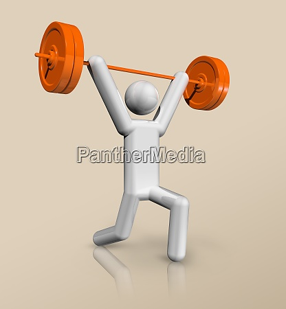 weightlifting 3d icon olympic sports