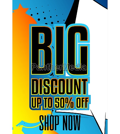 comic book discount sale social media