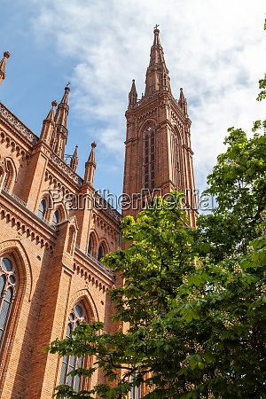 towers of the marktkirche in wiesbaden
