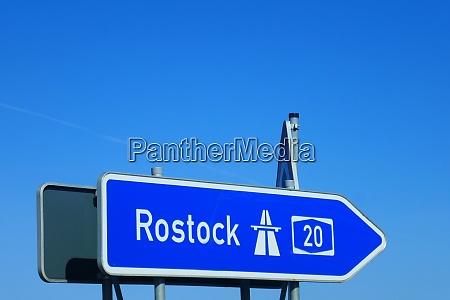 highway sign rostock