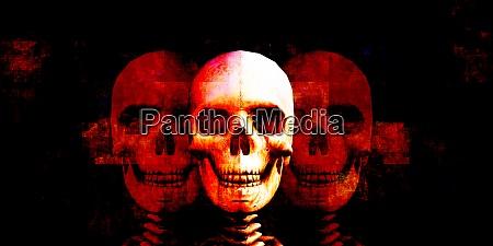 halloween human skull
