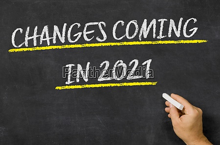 changes coming in 2021 written on