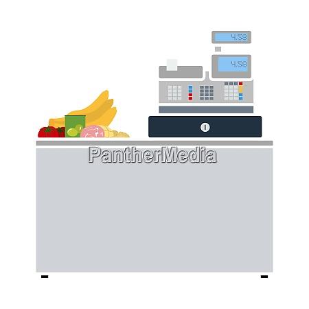 supermarket store counter desk icon