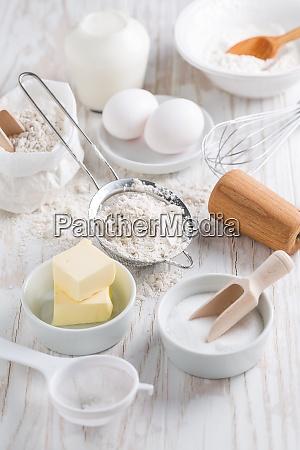 spelt flour sugar with baking ingredients